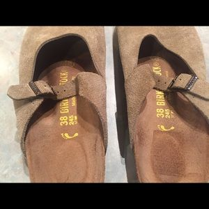 Birkenstock Shoes - Birkenstock tan suede Rosemead Mary Jane slip ons